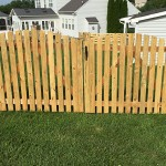 10 Foot Wide Spaced Picket Double Drive Wood Gate with Arch