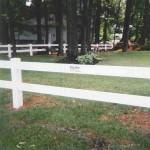 2 Rail Ranch Vinyl Fence