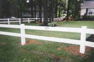 2 Rail Ranch Vinyl Fence