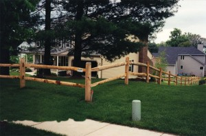 2 Rail Split Rail Wood Fence