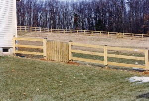 3 Board Paddock Wood Fence