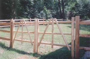 3 Rail Split Rail Double Gate