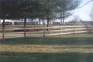 3-Rail Split Rail Wood Fence