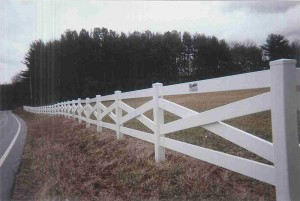 4 Board Estate Vinyl Fence