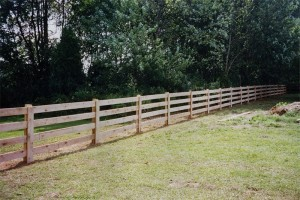 4 Board Paddock Wood Fence