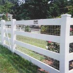 4 Rail Ranch Vinyl Fence