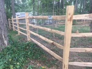 4 Rail Split Rail Wood Fence