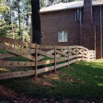 5 Board Estate Wood Fence