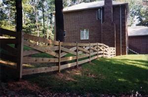 5 Board Estate Wood Fence