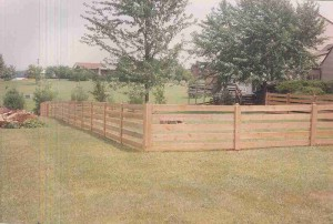 5 Board Paddock Wood Fence