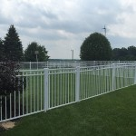 54 Inch Guardian Doria White Aluminum Fence (Pool Code)