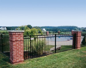 54-Inch Ornamental Aluminum Doria Fence (Pool Code)