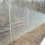 6 Foot Chain Link with 3 Strand Barbed Wire Fence