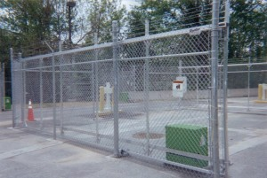 6 Foot Chain Link with 5 Strand Barbed Wire Fence