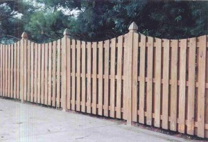 6 Foot Spaced Picket Semi-Privacy Fence with Mt Vernon Dip