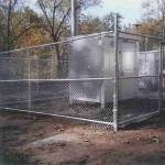 6 Foot Surround Chain Link with 3 Strand Barbed Wire Fence