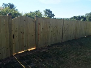 6 Foot Tall Solid Board Wood Privacy Fence
