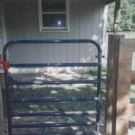 7 Bar Pipe Gate with Latch