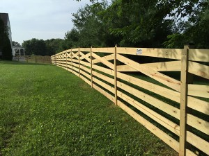 7 Board Estate Wood Fence
