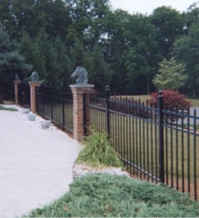 Aluminum Fence, Residential Project