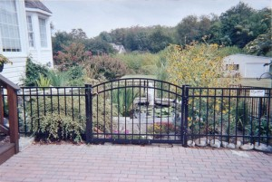 Black ELBA Ornamental Aluminum Fence