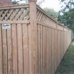 Board on Batten Privacy Wood Fence with Lattice Top