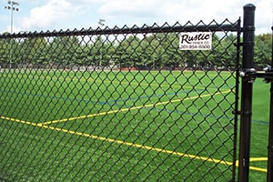 Chain Link Fence on Athletic Field