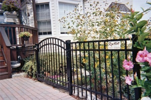 ELBA Ornamental Aluminum Black Fence