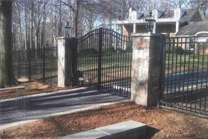 Ornamental Aluminum Double Gate Fence
