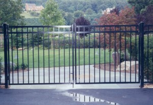Ornamental Aluminum ELBA Double Gate Fence