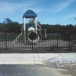 Ornamental Aluminum Fence on Playground