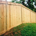 Solid Board Wood Privacy Fence