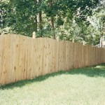 Solid Board Wood Privacy Fence with Wood Top