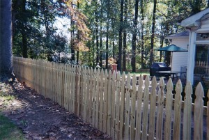 Spaced Picket Colonial Gothic Wood Fence