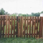 Spaced Picket Dog Eared Gate