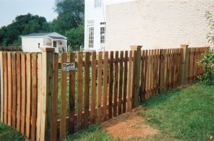 Spaced Picket Dog Eared Wood Fence