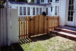 Spaced Picket Gothic Wood Fence