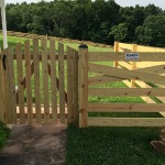 Spaced Picket Walk Gate with Arch