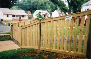 Rustic Custom Picket Wood Fence