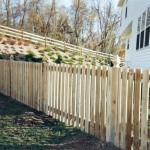 Spaced Picket with Flat Top Wood Fence
