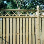 Spaced Picket with Lattice Semi Privacy Wood Fence