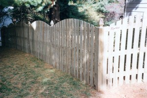 Spaced Picket Wood Fence with Arch