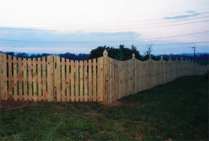 Spaced Picket Wood Fence with Mt Vernon Dip