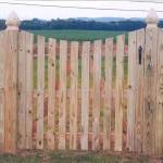 Spaced Picket Wood Gate with Dip
