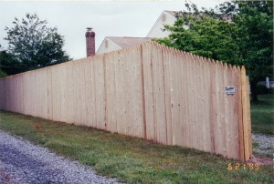 Stockade Wood Privacy Fence