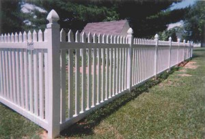 Straight Top Contemporary Vinyl Fence