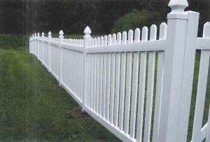Straight Top Dog Eared Vinyl Fence