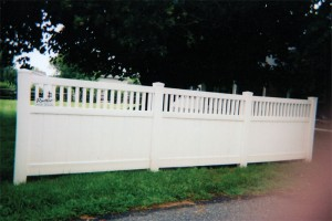 Tongue and Groove Spindle Top Vinyl Semi Privacy Fence