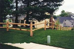 Wood Split Rail Fence